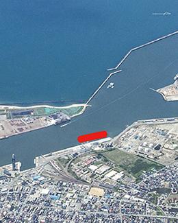 秋田港航空写真