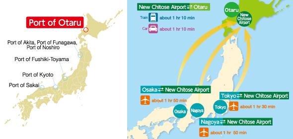 Access Map around the Port of Otaru