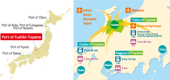 Access Map around the Port of Fushiki-Toyama