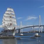 Shinminato bridge and Kaiwomaru Park Photo