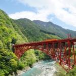 """Kurobe Gorge Railways,""""TOROKKO""""Train Photo"""