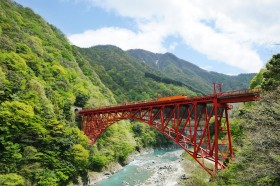 "Kurobe Gorge Railways,""TOROKKO""TrainPhoto"