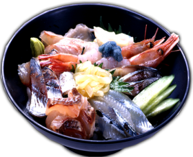 "Sashimi Rice Bowl ""Kaisen-don""Photo"