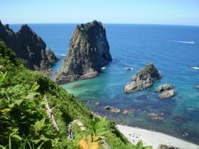 島武意海岸(日本の渚百選)写真