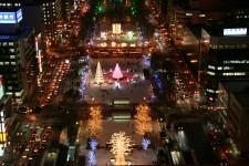 札幌ホワイトイルミネーション写真
