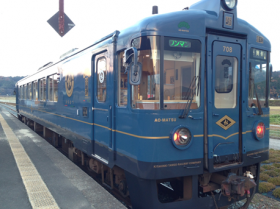 KTR観光型列車に乗車写真