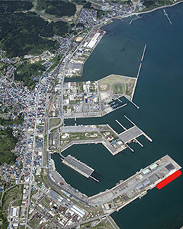 Port of Funagawa Aerial Photo