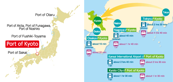 Access Map around the Port of Kyoto