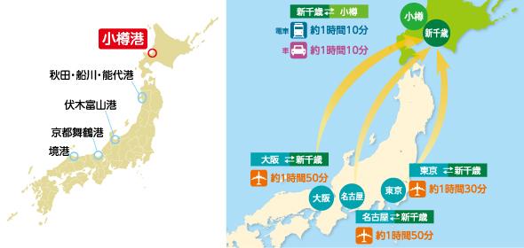 小樽港アクセスマップ