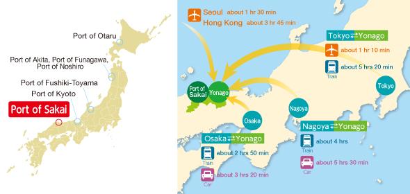 Access Map around the Port of Sakai