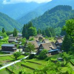 World Heritage Site, Historic Villages of Gokayama-Traditional Houses in the Gassho Style Photo