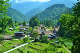 World Heritage Site, Historic Villages of Gokayama-Traditional Houses in the Gassho StylePhoto
