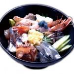 Seafood Bowl (Bowl of rice topped with Sashimi)