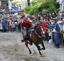 加茂神社 春の大祭「牛乗祭」「流鏑馬」写真